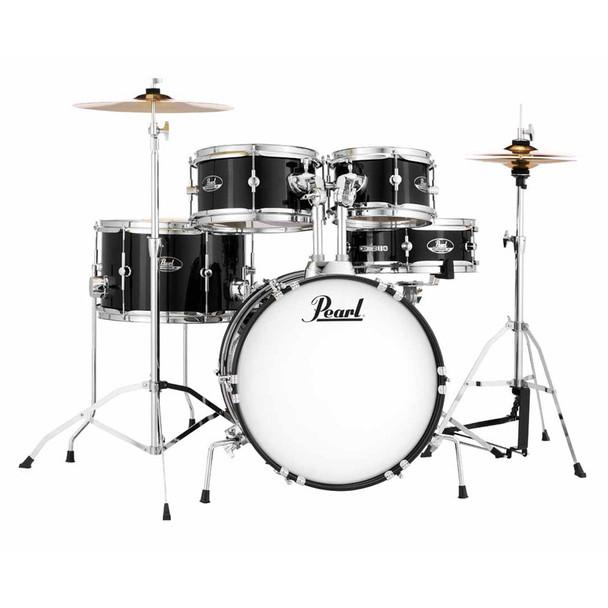 Pearl Roadshow Junior 5pc Complete Drum Kit, Jet Black