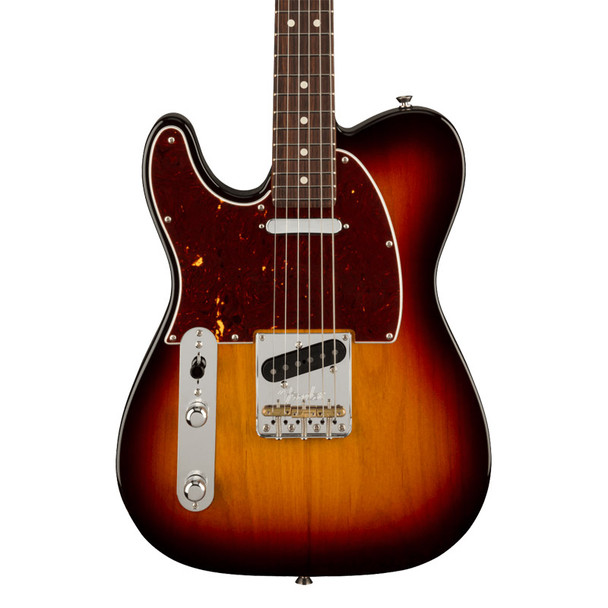 American Professional II Telecaster Left-Hand Electric Guitar, 3 Tone Sunburst, Rosewood