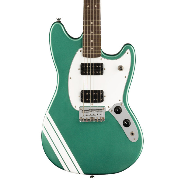 Fender Squier FSR Bullet Competition Mustang HH Electric Guitar, Sherwood Green