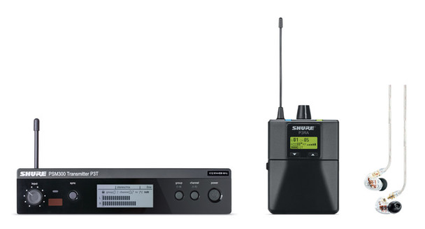 Shure PSM 300 Premium IEM System and SE535 Earphones