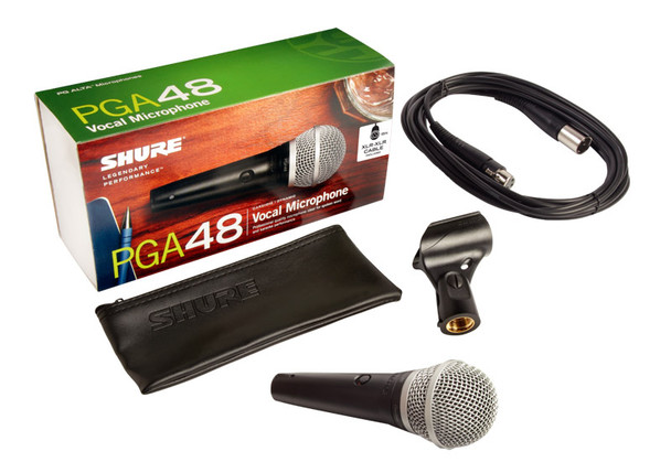 Shure PGA48-XLR Handheld Dynamic Microphone with XLR to XLR Cable