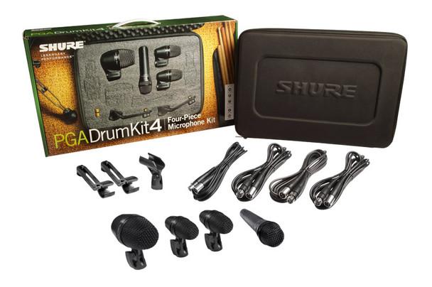 Shure PGADRUMKIT4 Four Piece Drumkit Microphone Set