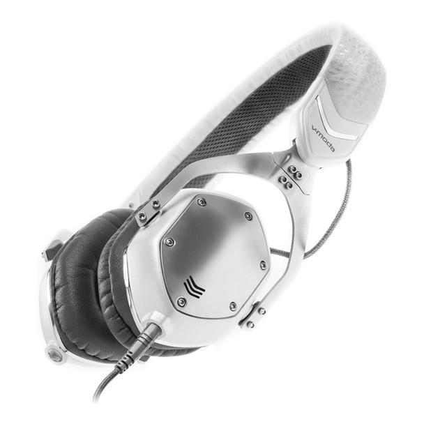 V-Moda XS On-Ear Headphones, White Silver