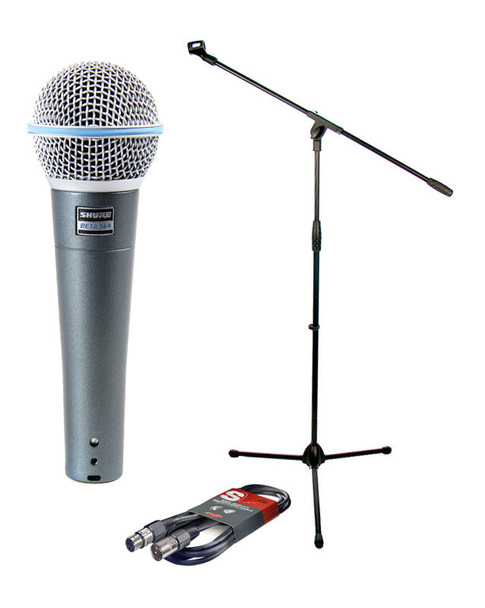 Shure Beta58A, Boom Stand and Cable Bundle