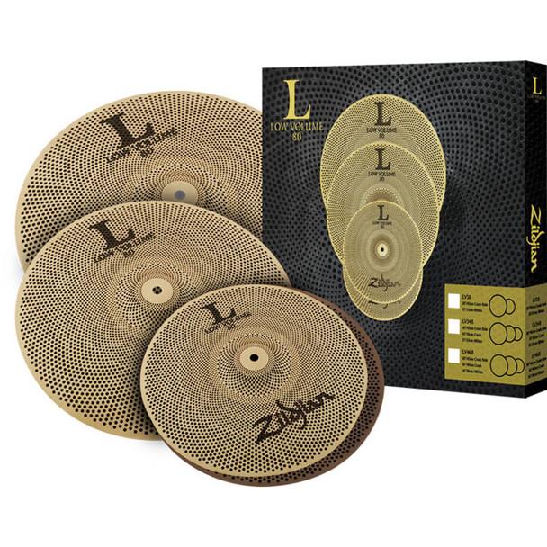 Zildjian L80 Low Volume 468 Cymbal Box Set 14,16,18