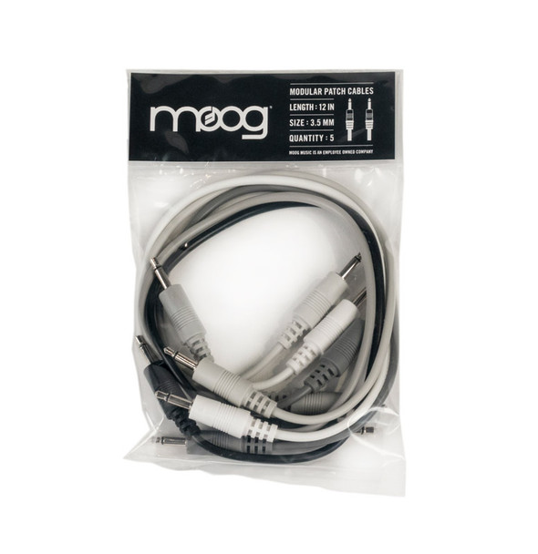 Moog 12 inch patch cables, Set of 5