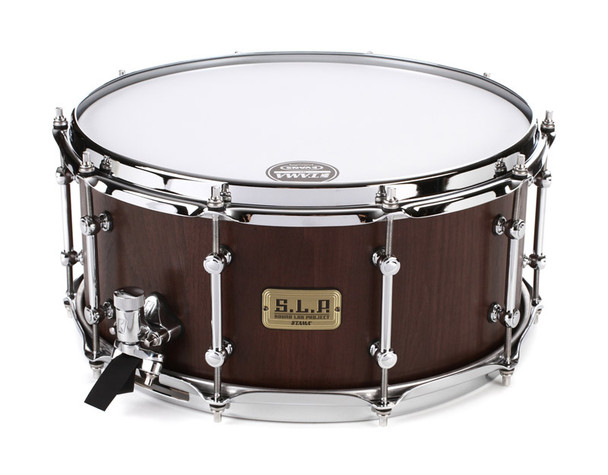 Tama SLP 14 x 6.5 G-Walnut Snare Drum in Matt Black Walnut