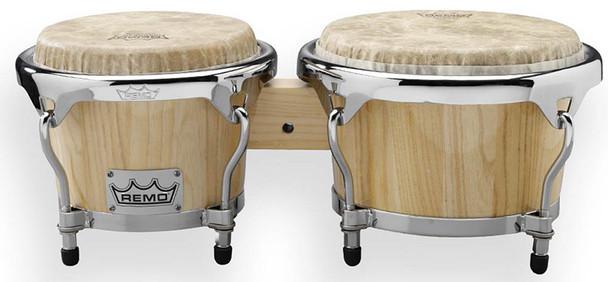 Remo Crown Percussion Bongos, Natural