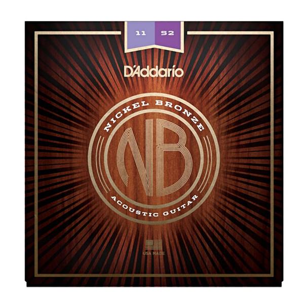 D Addario NB1152 Nickel Bronze Acoustic Guitar Strings, Custom Light, 11-52