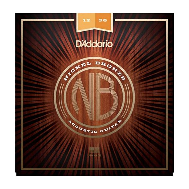D Addario NB1253 Nickel Bronze Acoustic Guitar Strings, Light Top/Med Bottom
