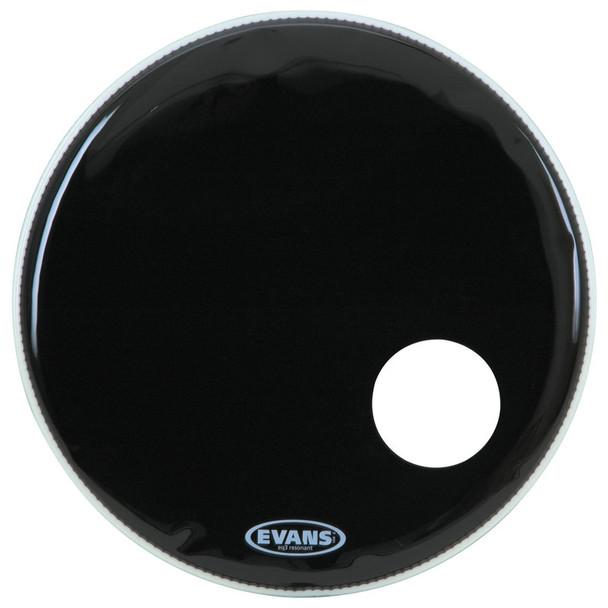 Evans BD20RB 20 Inch EQ3 Resonant Bass Drum Head, Black