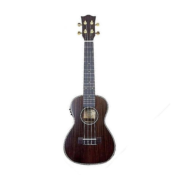 Snail UKC-E498EQ Electro Acoustic Concert Ukulele, Ebony