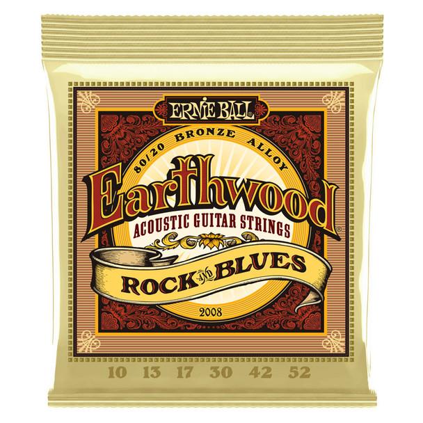 Ernie Ball Earthwood Rock & Blues Acoustic Guitar Strings 10-52