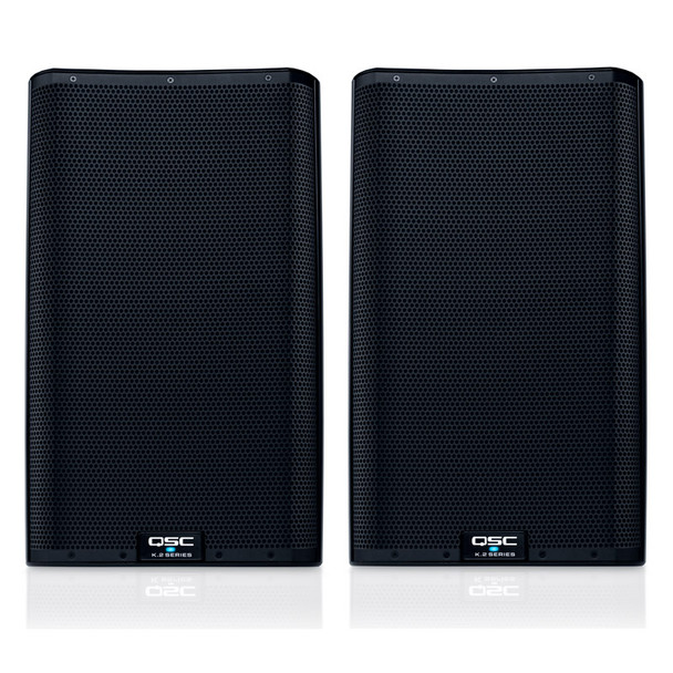 QSC K12.2 Active PA Speakers, Pair