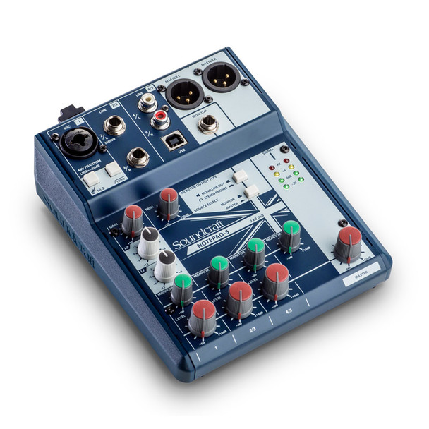 Soundcraft Notepad-5 Analogue Mixing Desk with USB Inteface
