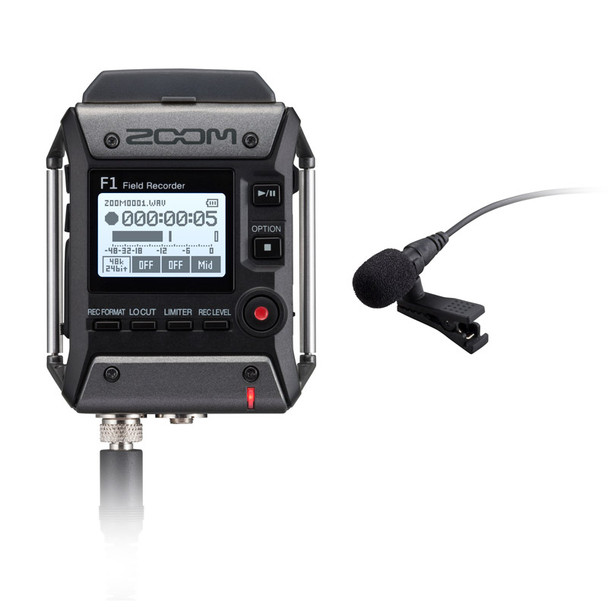 Zoom F1-LP Field Recorder with Lavalier Mic