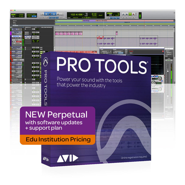 AVID Pro Tools Perpetual NEW 1Y Updates+Support Plan - Edu Institution Only