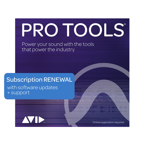 AVID Pro Tools 1-Year Subscription RENEWAL Updates+Support (Download)