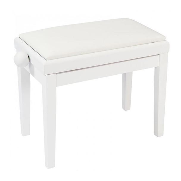 Kinsman KPB03WH Adjustable Piano Bench, White
