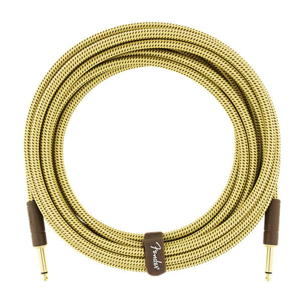 Fender Deluxe Series 10 foot Instrument Cable, Tweed