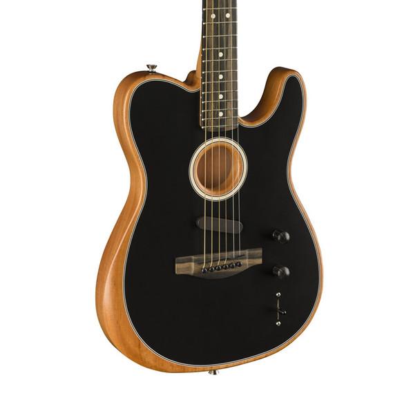 Fender American Acoustasonic Telecaster Electro-Acoustic Guitar, Black