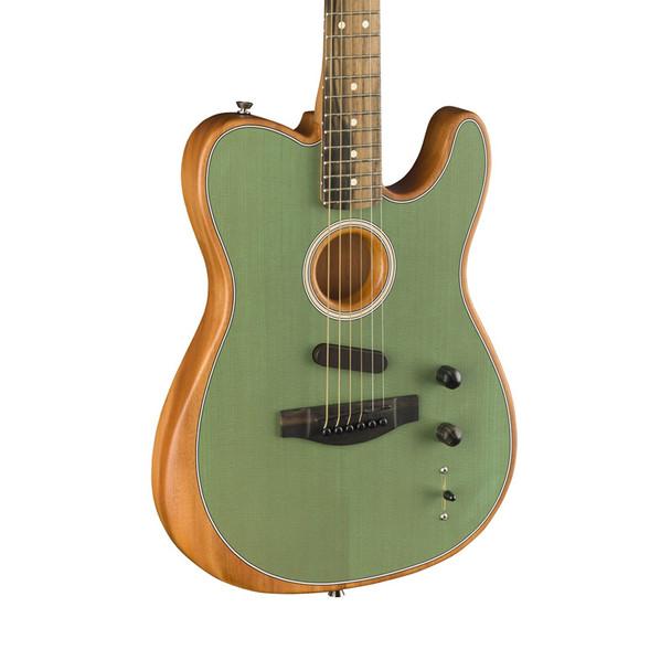 Fender American Acoustasonic Telecaster Electro-Acoustic Guitar, Sea Foam Green