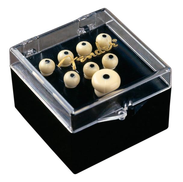 Fender Bridge Pin Set, Ivory with Black Dot