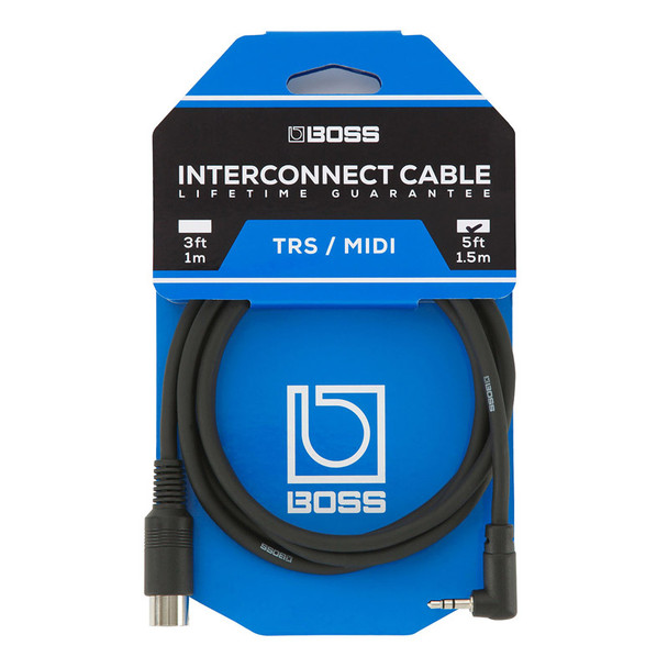 Boss BMIDI-5-35 Interconnect Cable TRS/MIDI For Boss 200 Series