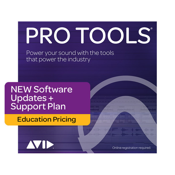 AVID Pro Tools 1-Year Software Updates+Support Plan NEW - Education