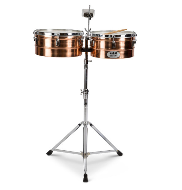 Natal NT1314TBRO Bronze 13 & 14 Inch Timbales with Stand