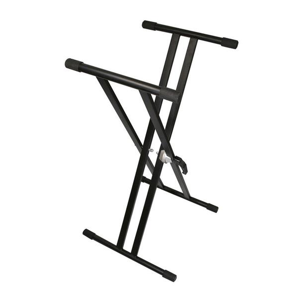 TGI Double Braced Keyboard Stand, Black
