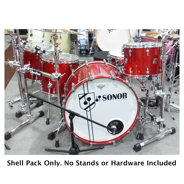 Sonor SQ2 26 Inch Shell Pack in Red Sparkle (Pre-Owned)