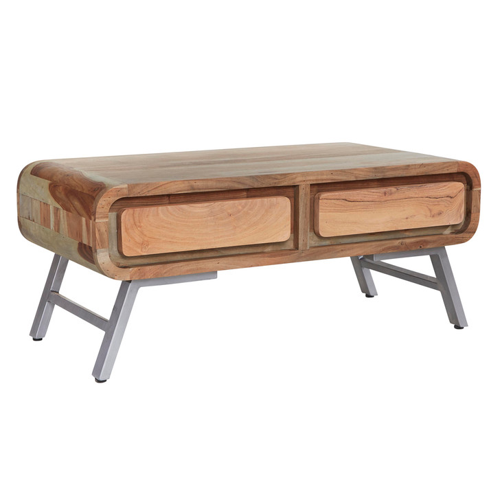 Kavali Reclaimed Two Drawer Coffee Table