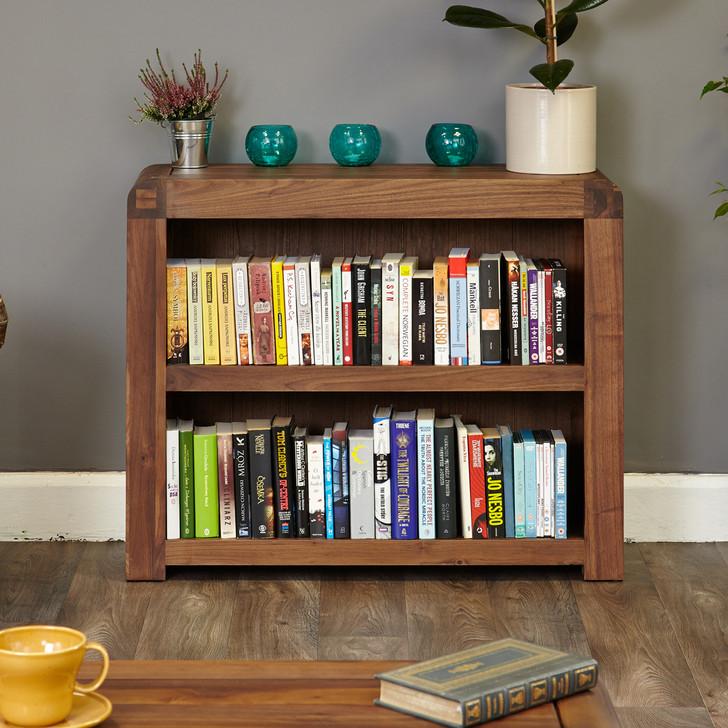 Shiro Walnut Low Bookcase - CDR01B - 1