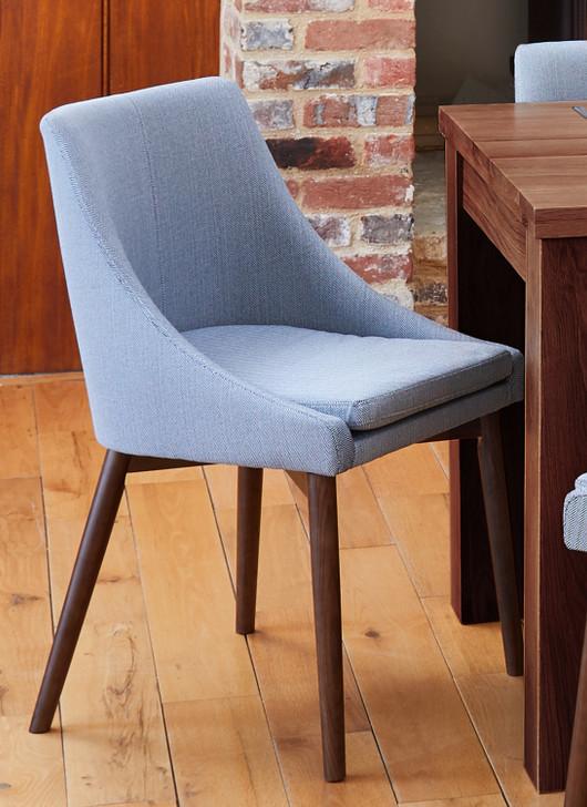 Shiro Walnut Slate Grey Dining Chairs - 1