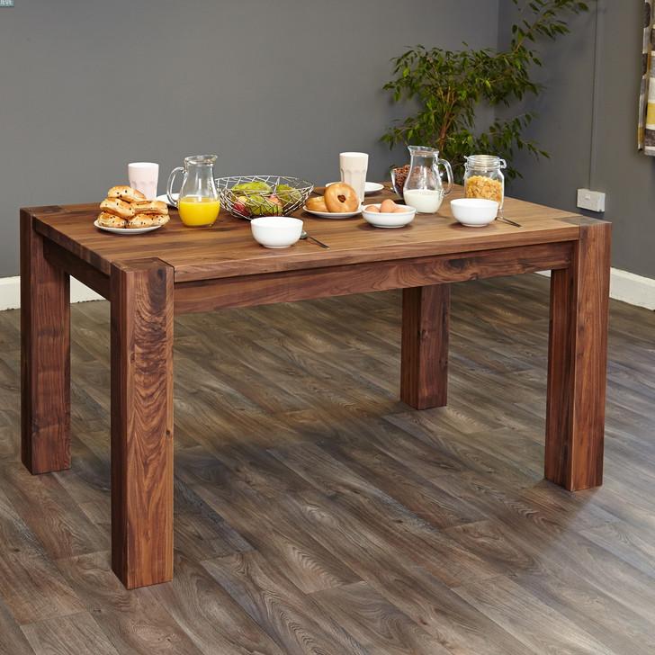 Shiro Walnut 150cm Dining Table (4/6 Seater) - CDR04B - 1
