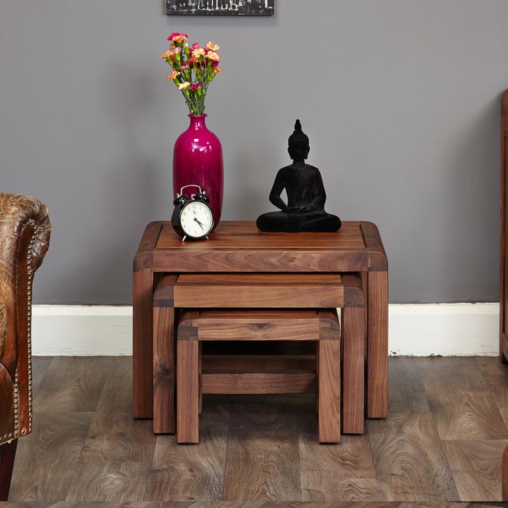 Shiro Walnut Nest of 3 Coffee Tables - CDR08A - 1
