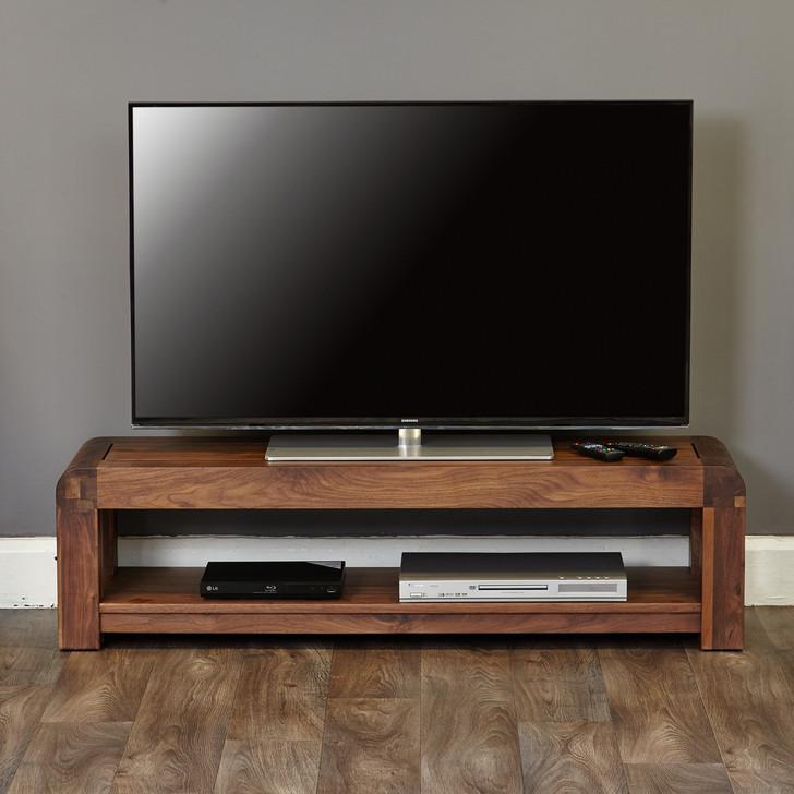 Shiro Walnut Low TV Cabinet - CDR09A - 1