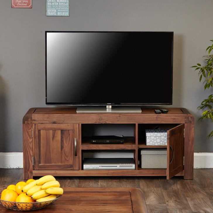 Shiro Walnut Widescreen Television Cabinet - CDR09B - 1