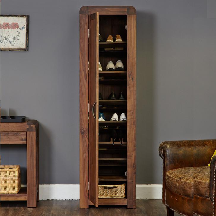 Shiro Walnut Tall Shoe Cupboard - CDR20E - 1