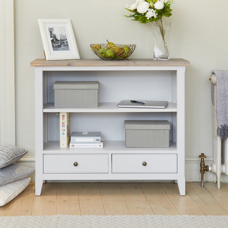 Signature Grey Low Bookcase - CFF01A - 1