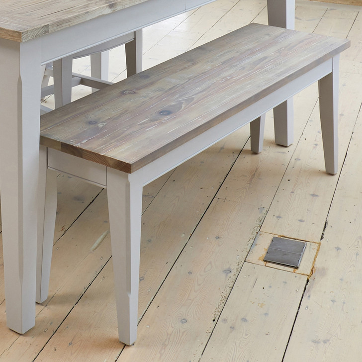 Signature Grey Dining Bench (130cm) - CFF03A - 1