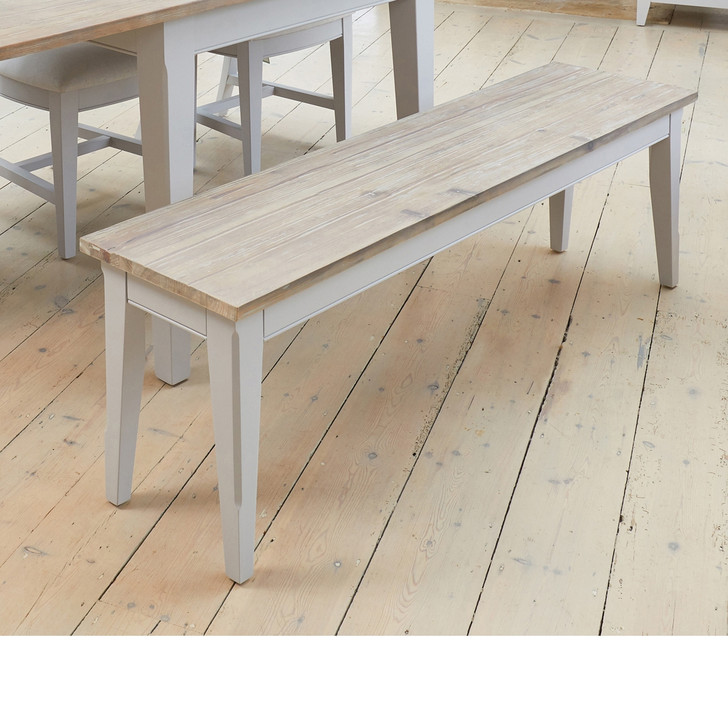 Signature Grey Dining Bench (150cm) - CFF03B - 1