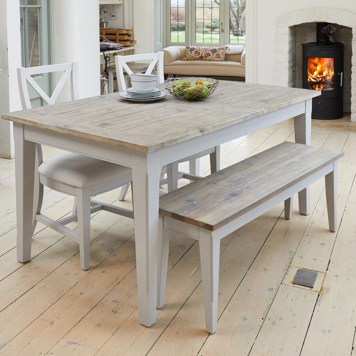 Signature Grey Extending Dining Table - CFF04A - 1