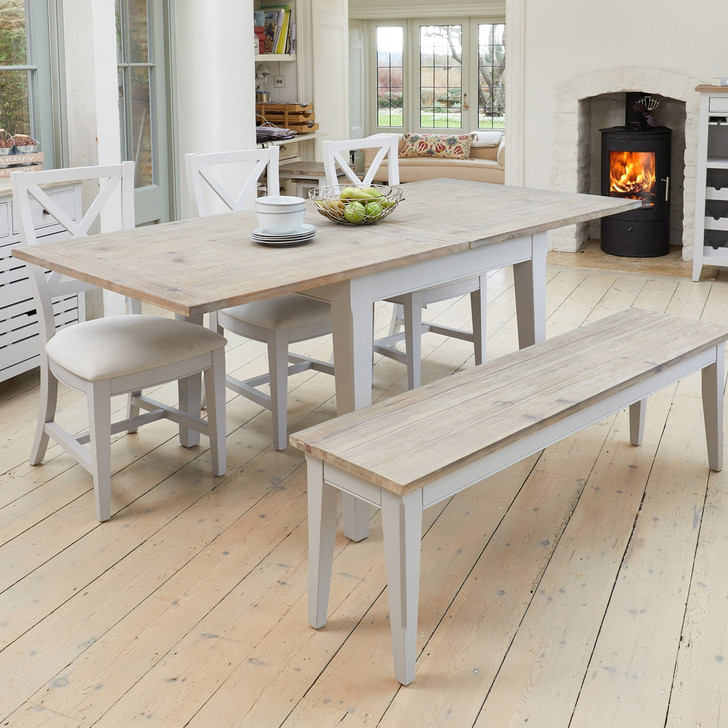 Signature Grey Square Extending Dining Table - CFF04B - 1