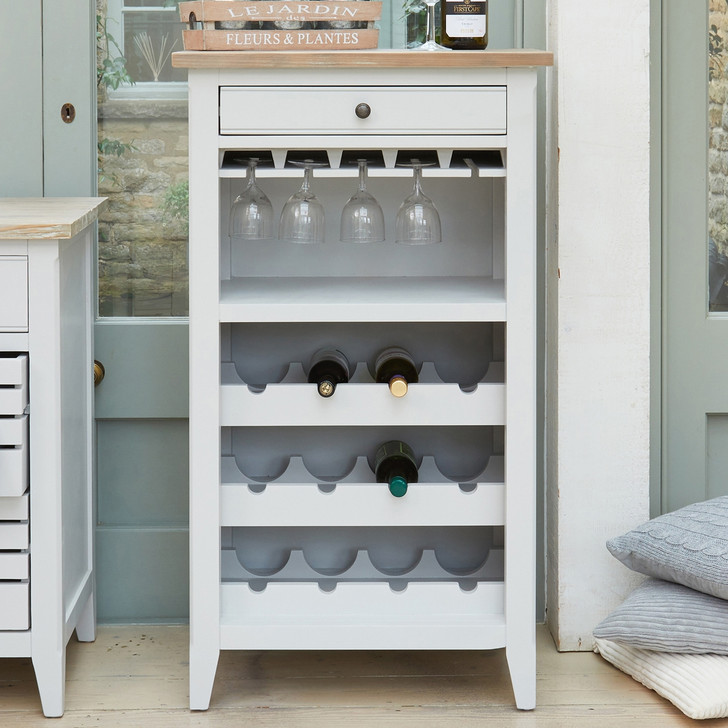 Signature Grey Wine Rack / Glass Storage Cabinet - CFF05A - 1