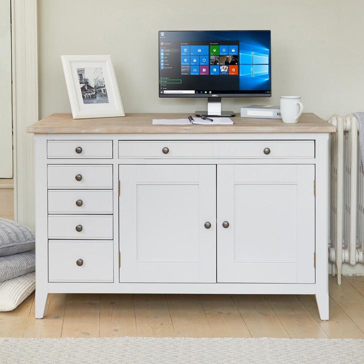 Signature Grey Hidden Home Office Desk - CFF06A - 1