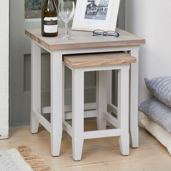 Signature Grey Nest of Two Tables - CFF08B - 1