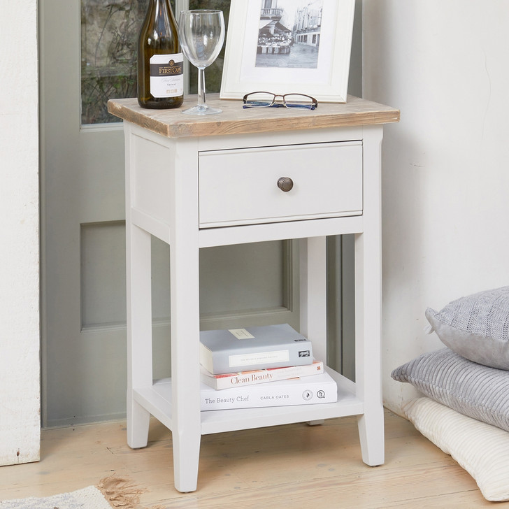 Signature Grey One Drawer Lamp Table - CFF10A - 1