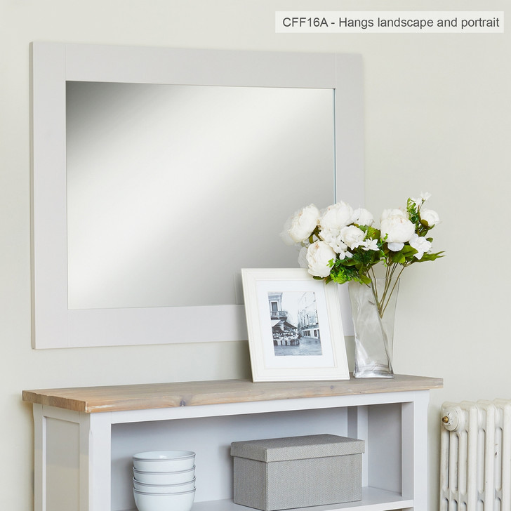 Signature Grey Overmantle Mirror - CFF16A - 1